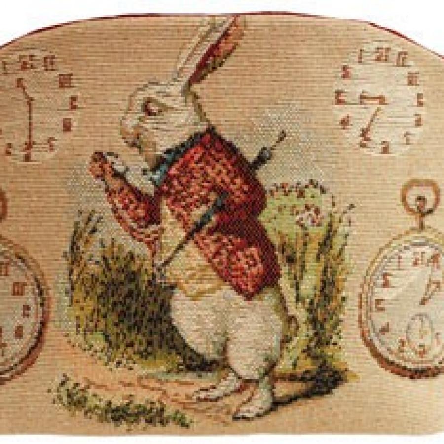 Cosmetic bag Late Rabbit, Alice in Wonderland