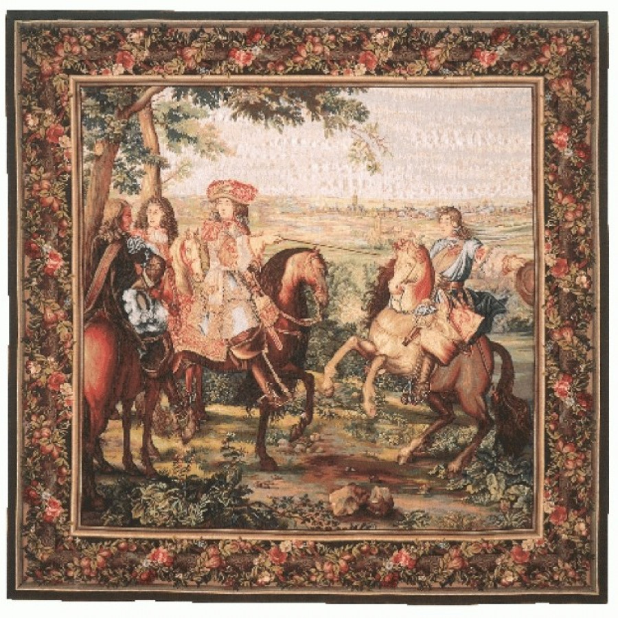 Tapestry La prise de Lille, square
