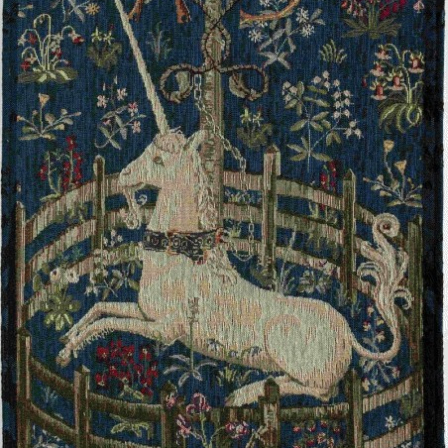 Tapestry captive unicorn
