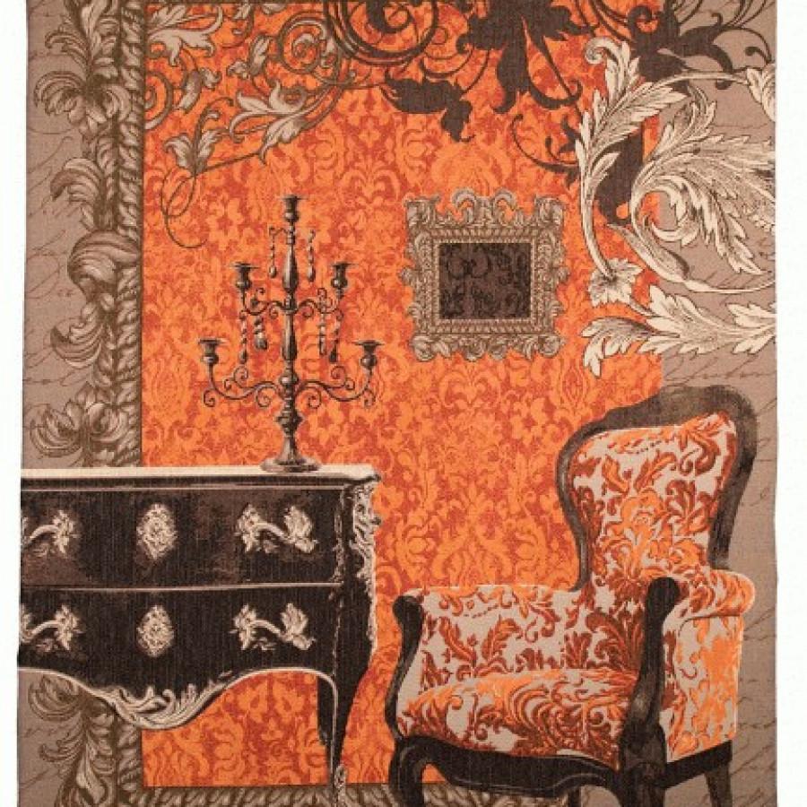9246O : Baroque, fond orange