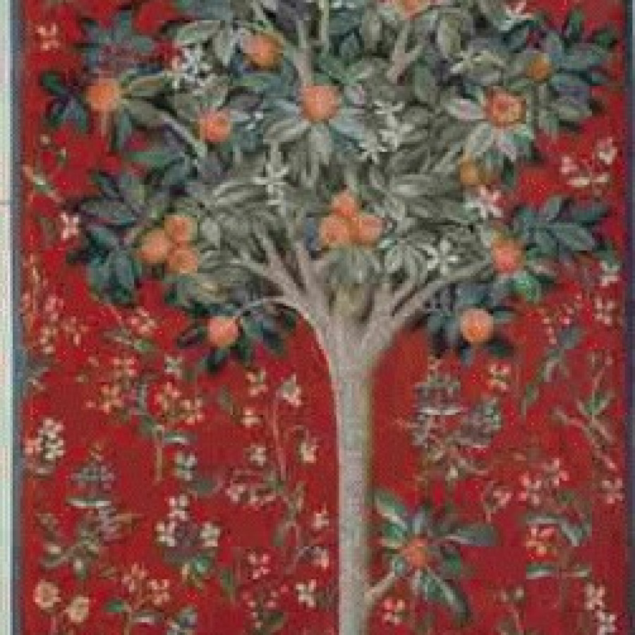Tapestry Medieval orange tree