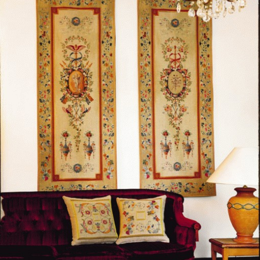 Tapestry Portiere Bouquet