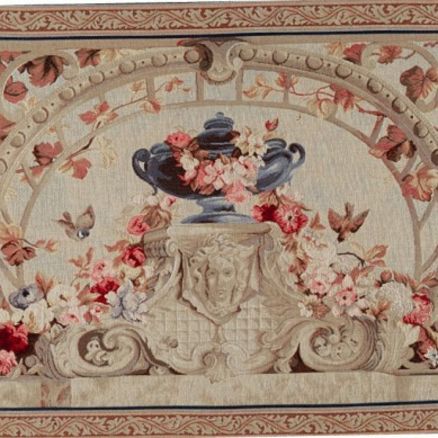 Tapestry Beauvais green leaves