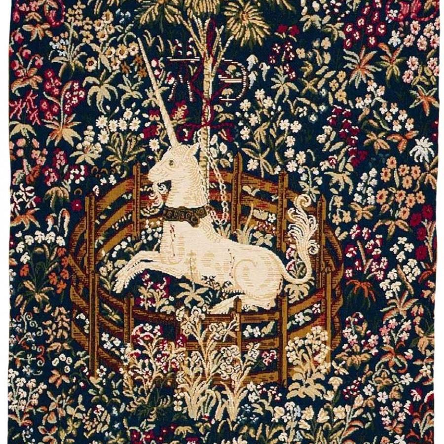 Tapestry Captive blue unicorn