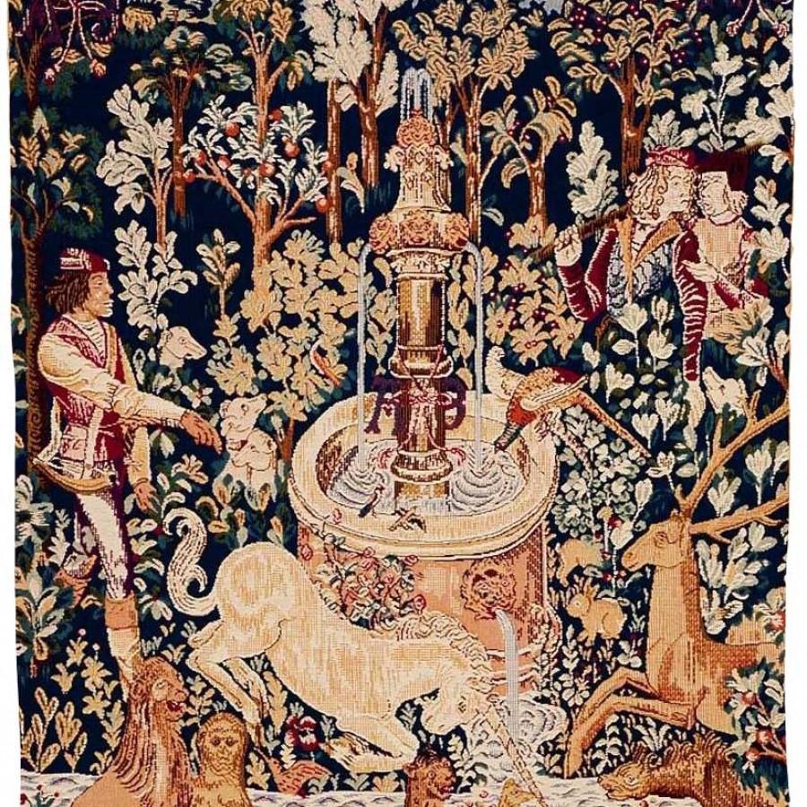 Tapisserie Licorne à la fontaine
