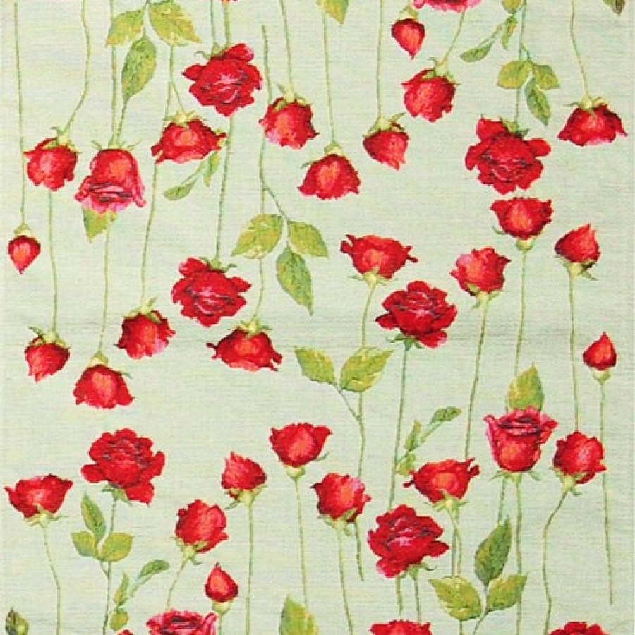 Chemin de table roses rouges