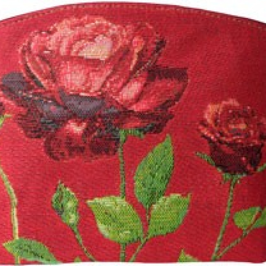 Trousse Roses rouge sur fond rouge