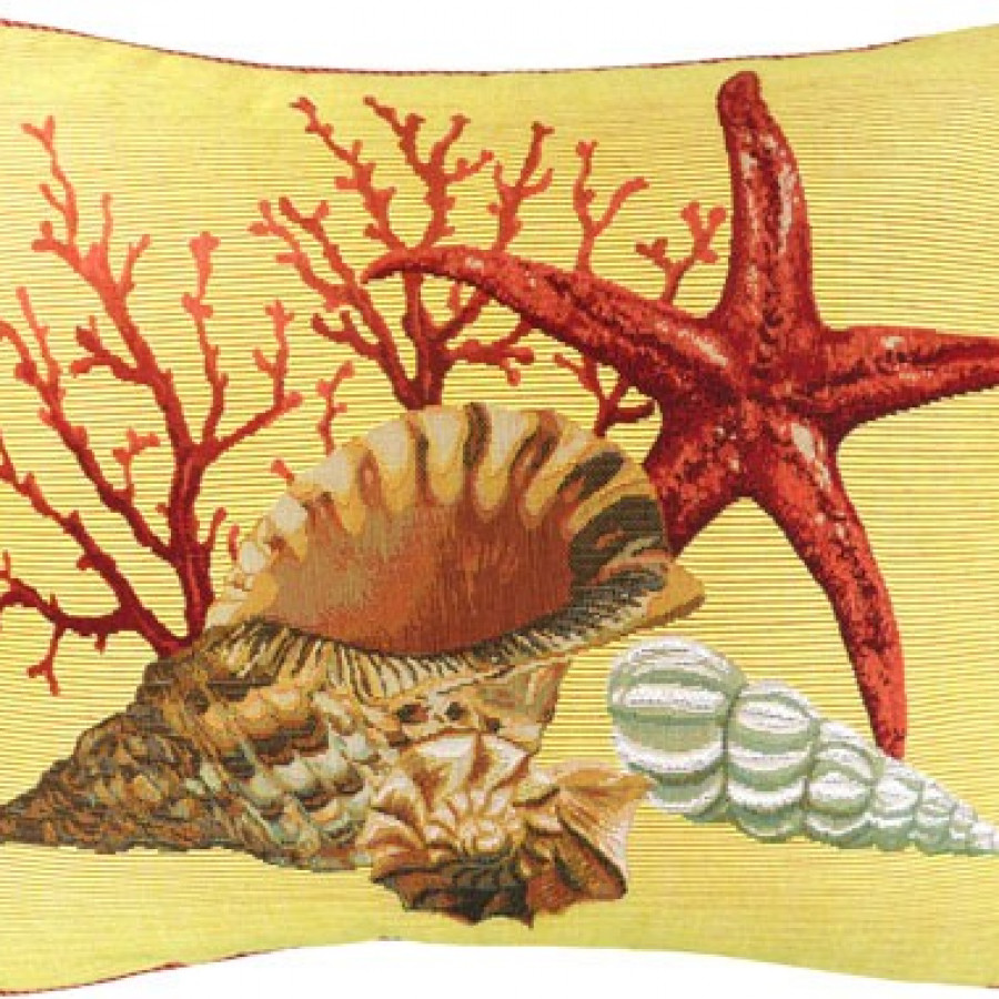 Cushion cover Corals and starfish