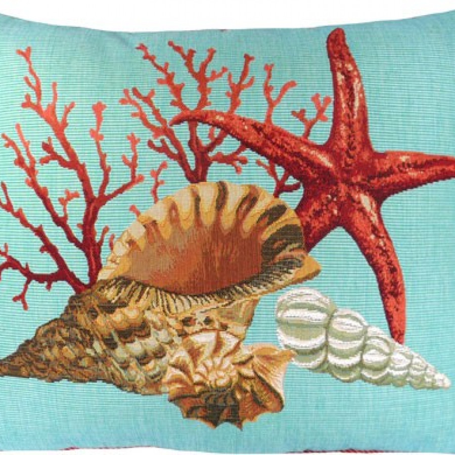 5445T : Corals and starfish, blue background