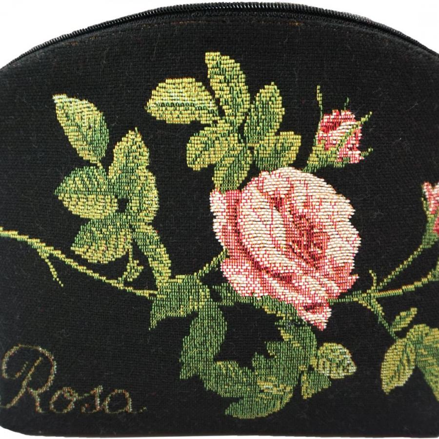 2272N : Roses de Redouté , fond noir