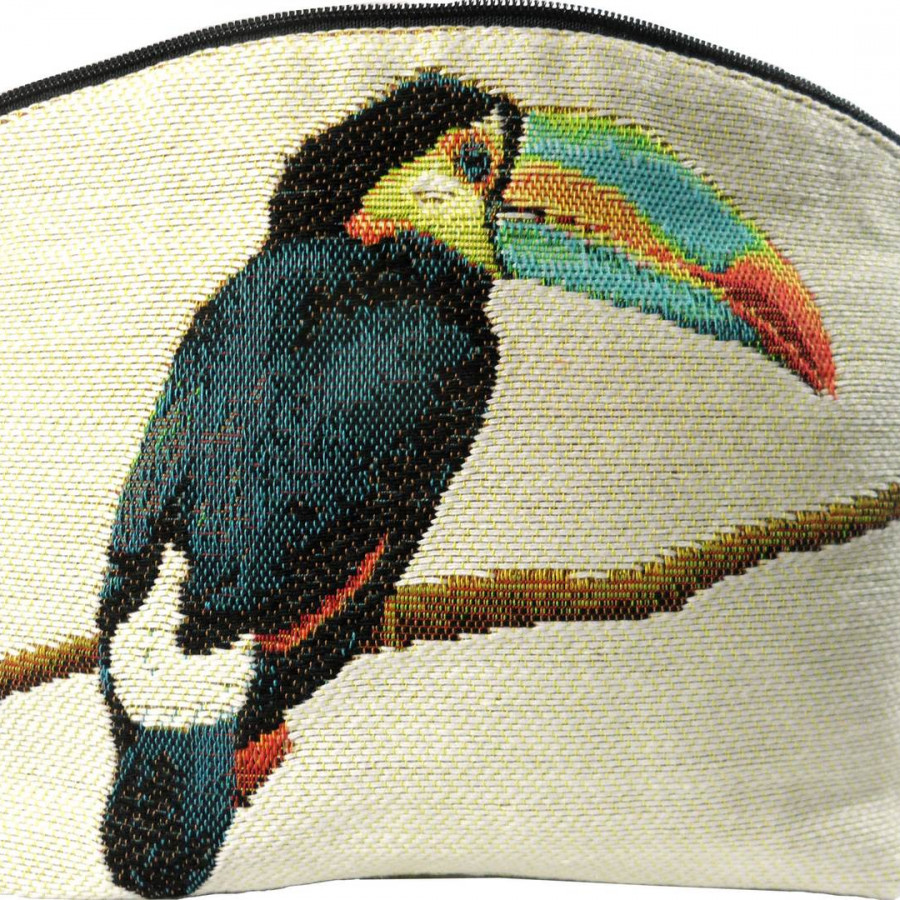 5520B : Toucans cosmetic bag, white background