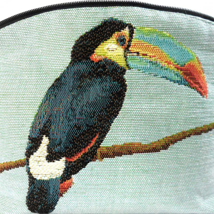 5520T : Toucans cosmetic bag, blue background