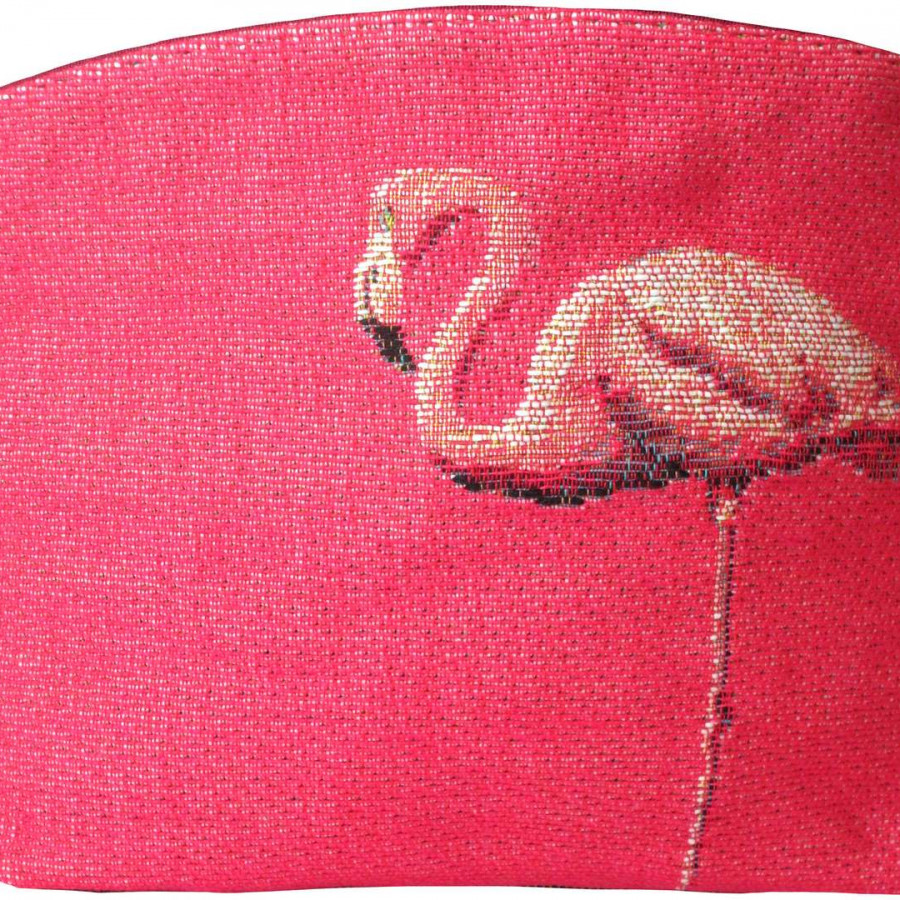 5494E : Flamants roses au repos, fond rose