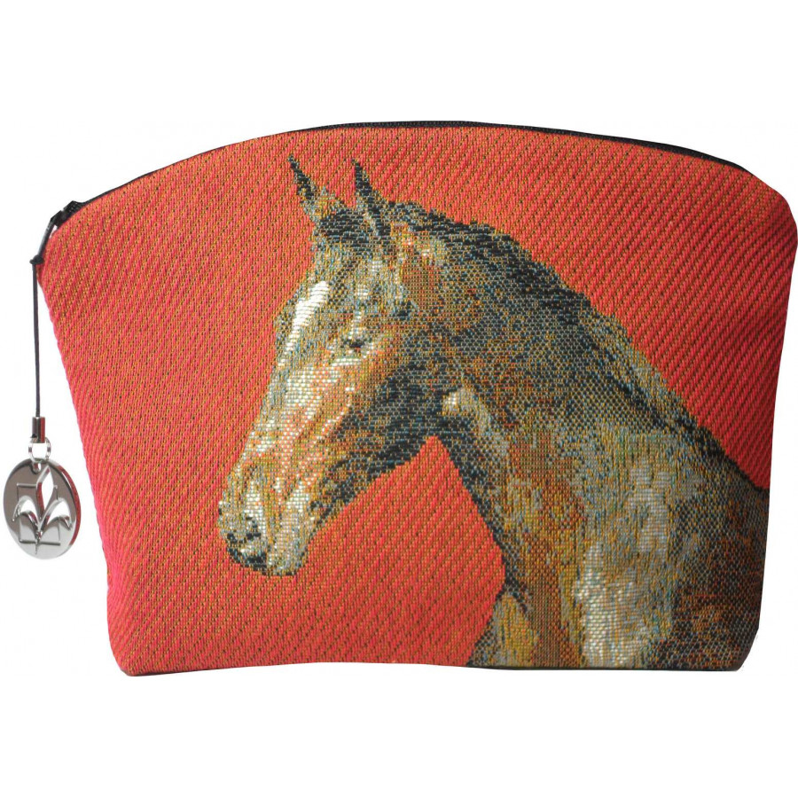 2077R : Horses red background
