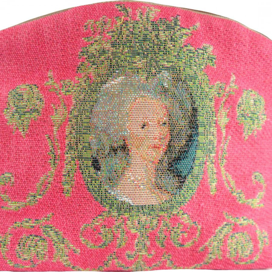 5539E : Portrait of Marie Antoinette, pink background,RMN