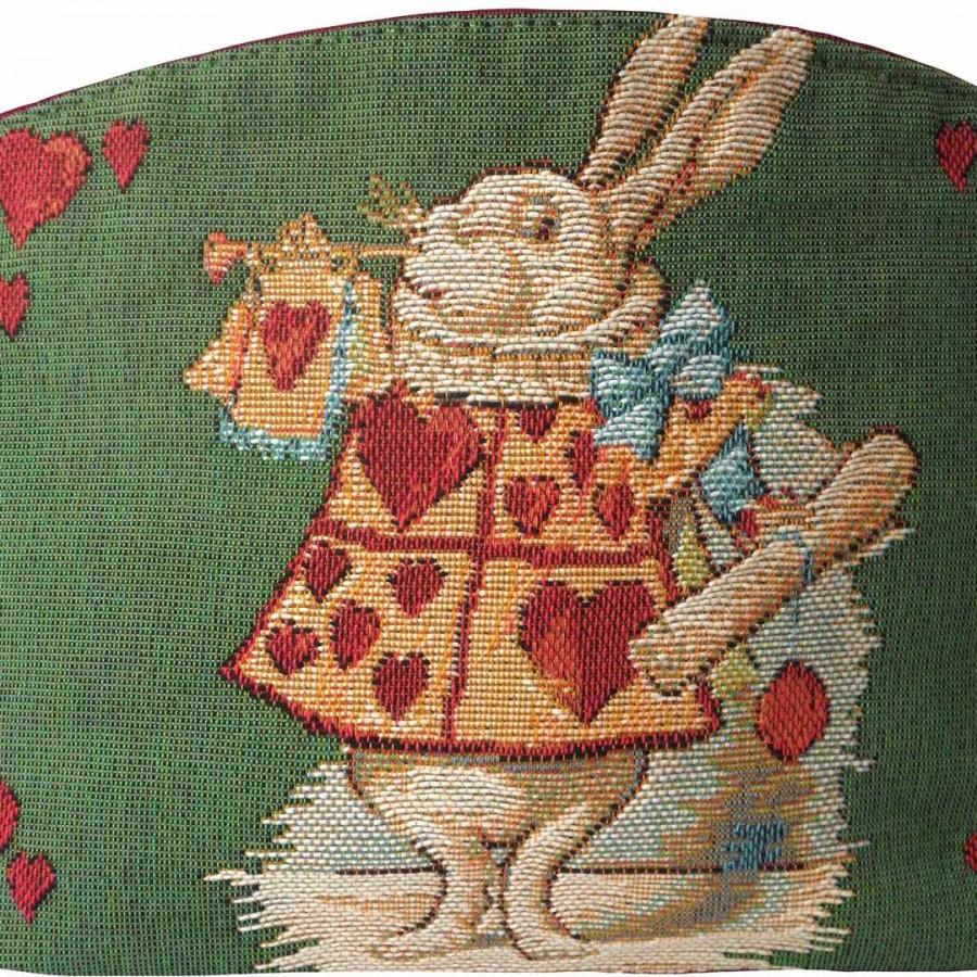 8832V : Lapin coeur, Alice au pays des merveilles fond vert