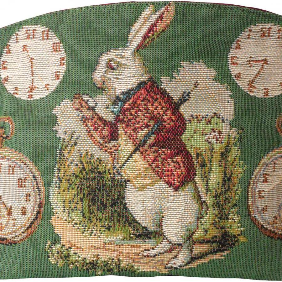 8834V : Late Rabbit, Alice in Wonderland, green background