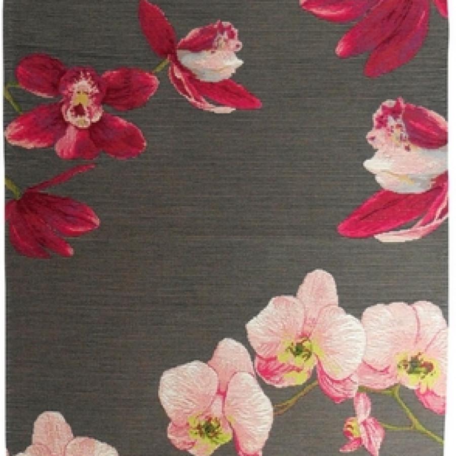 5300G : Orchidées rose, fond gris