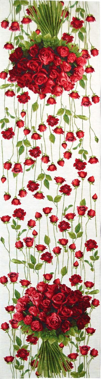 5426b chemin de roses rouge fond blanc objets d co art de lys. Black Bedroom Furniture Sets. Home Design Ideas