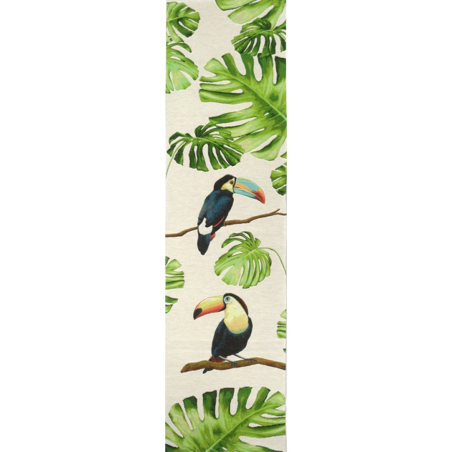 5521B : Toucans in the jungle, white background