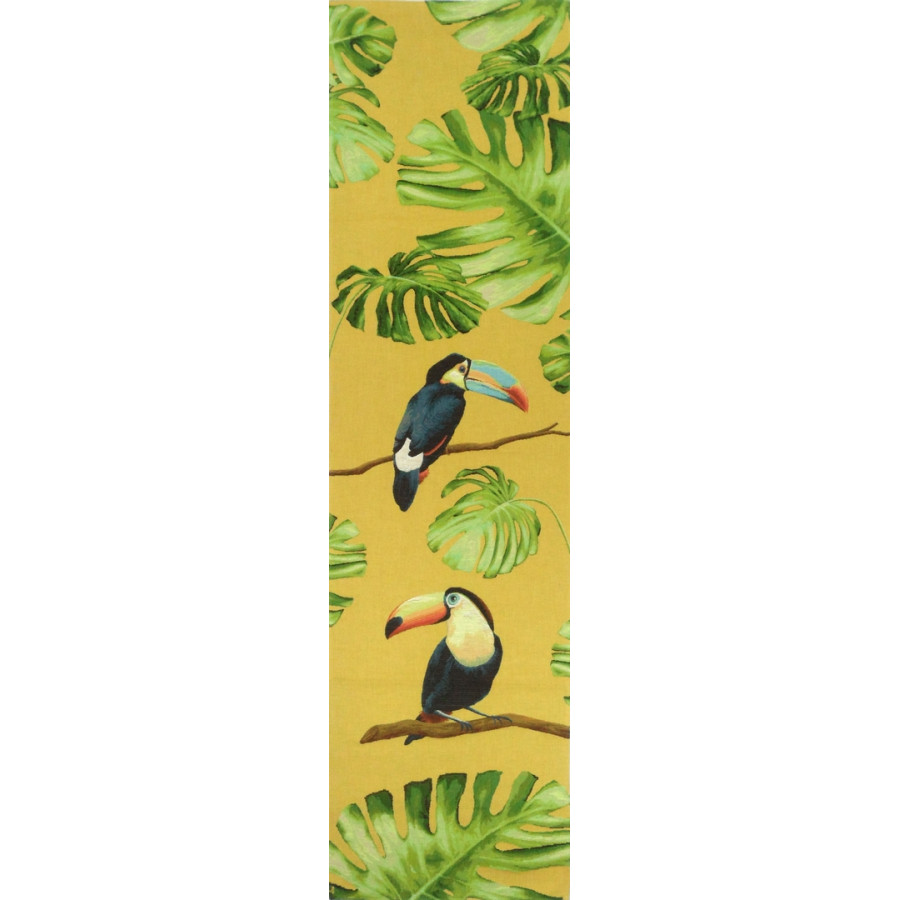 5521J : Toucans in the jungle, yellow background
