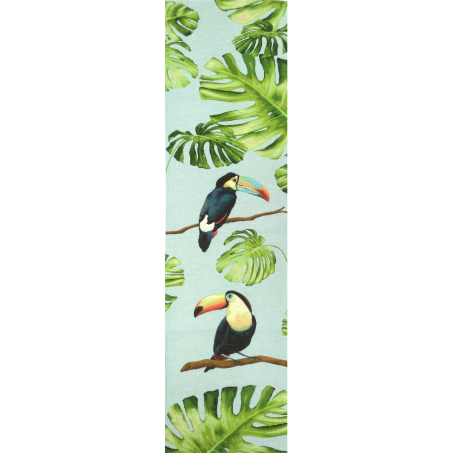 5521T : Toucans in the jungle, blue background