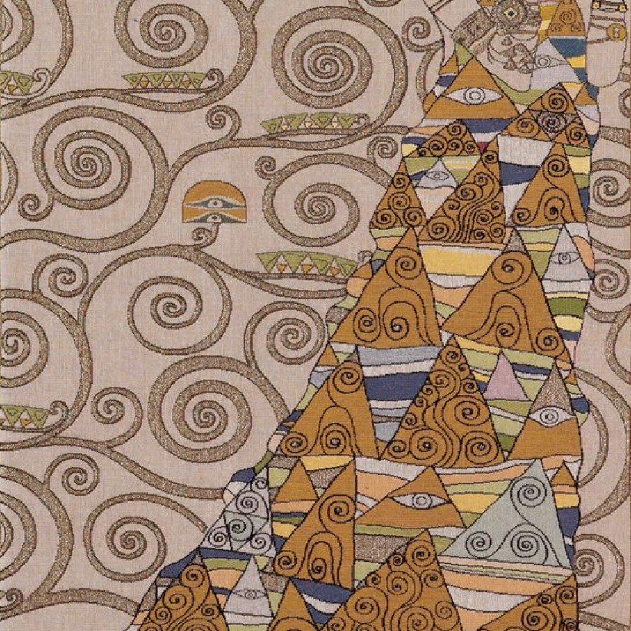 8586C : Lady, from Klimt , light background