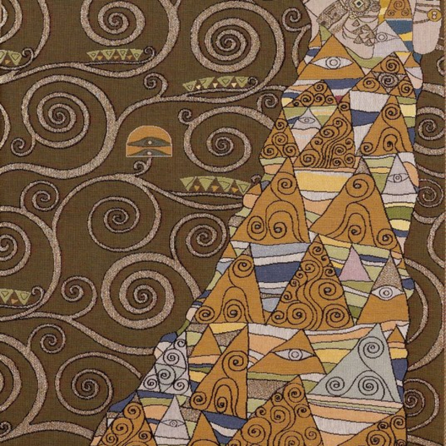 8586F : Lady, from Klimt , light background