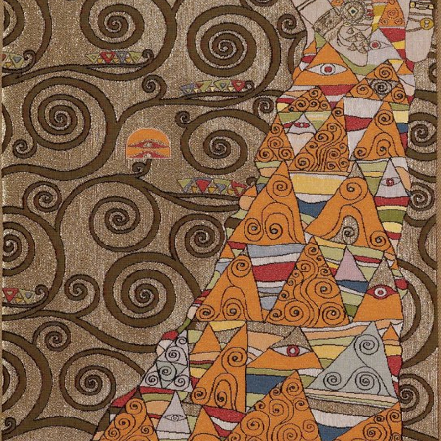 8586O : Lady, from Klimt , medium background