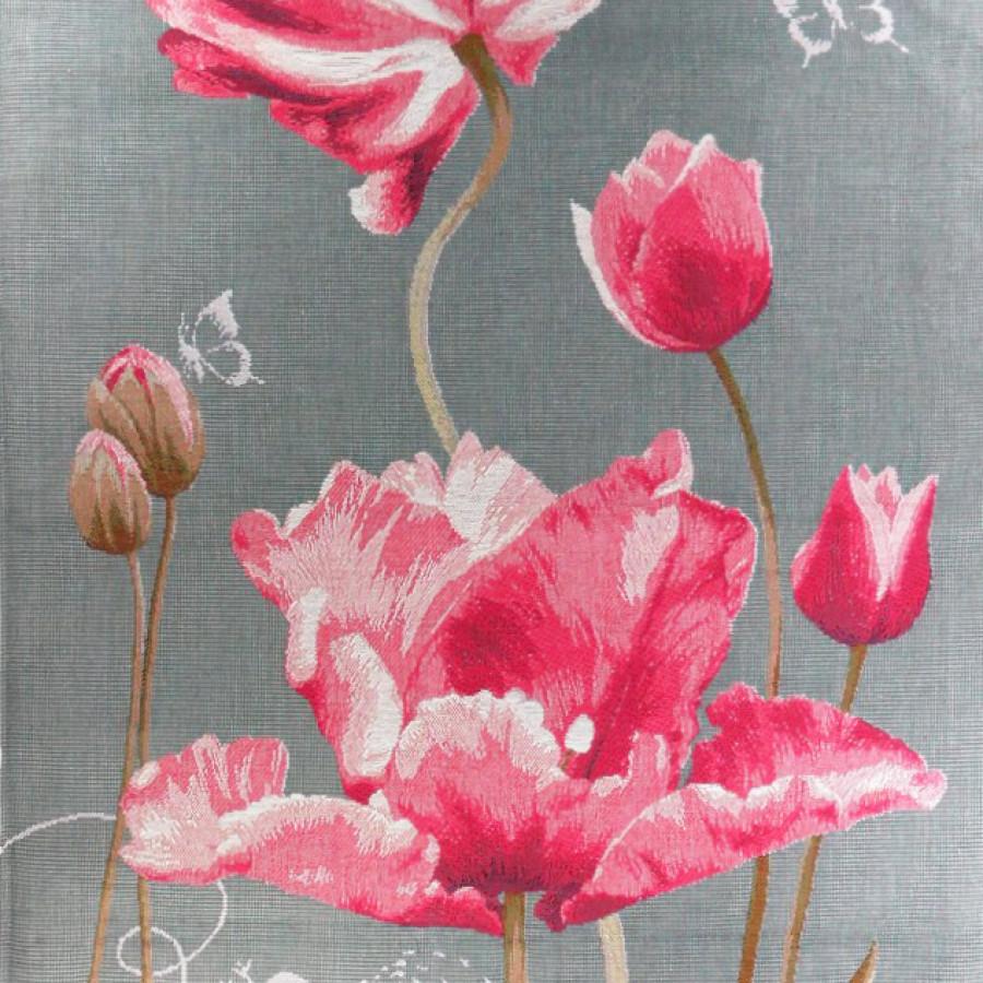 8961  : Tulipes, fond gris