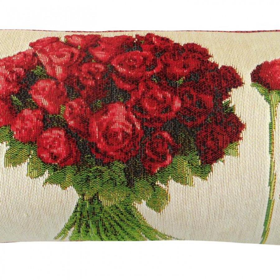 5425B : Roses rouge sur fond blanc