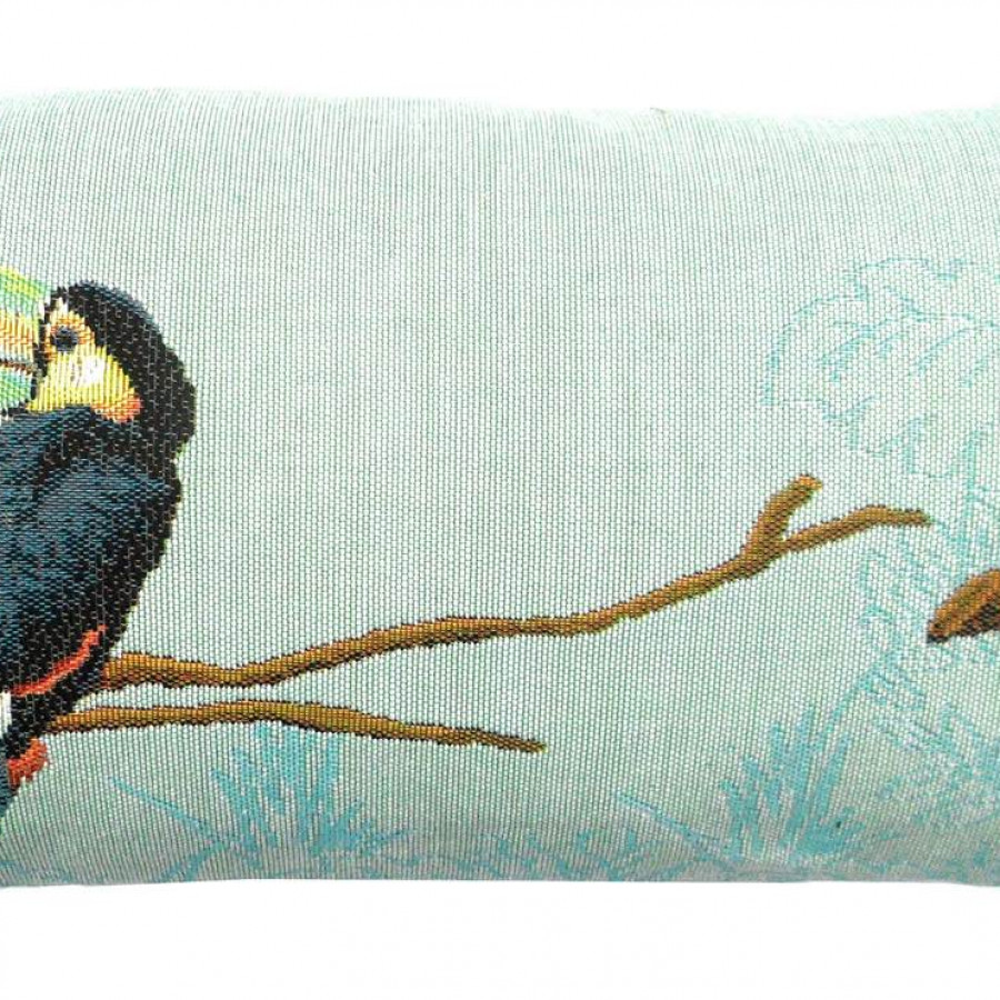 5522T : Two toucans in the jungle, blue background