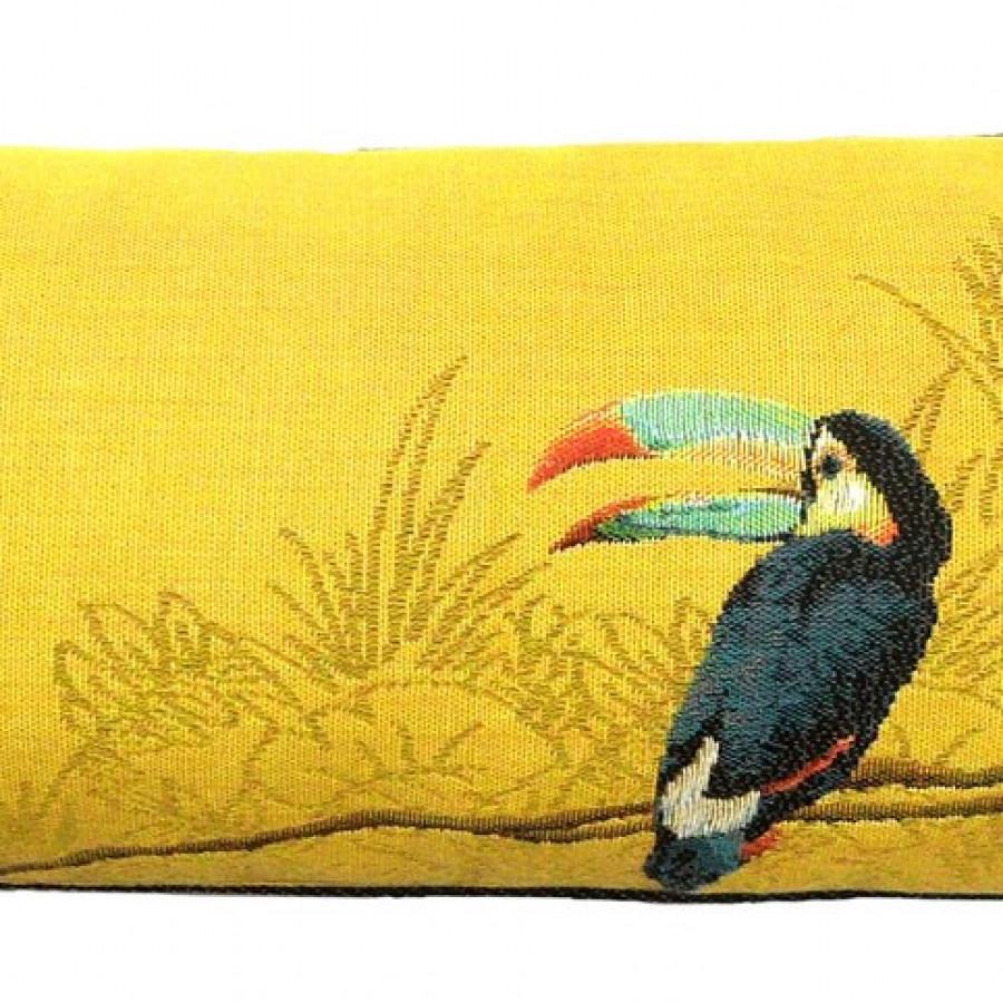 5522J : Deux toucans dans la jungle, fond jaune
