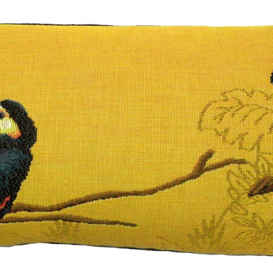 5522J : Two toucans in the jungle, yellow background