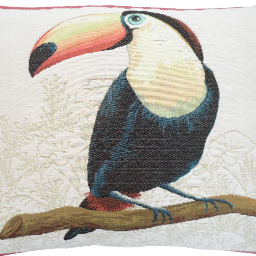 5518B : Toucan with orange beak, white background
