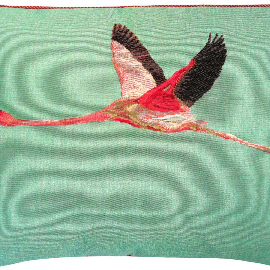 5493T : Flying flamingo, blue background