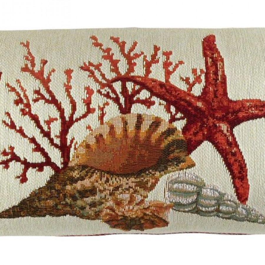 5444C : Corail et coquillages, fond clair