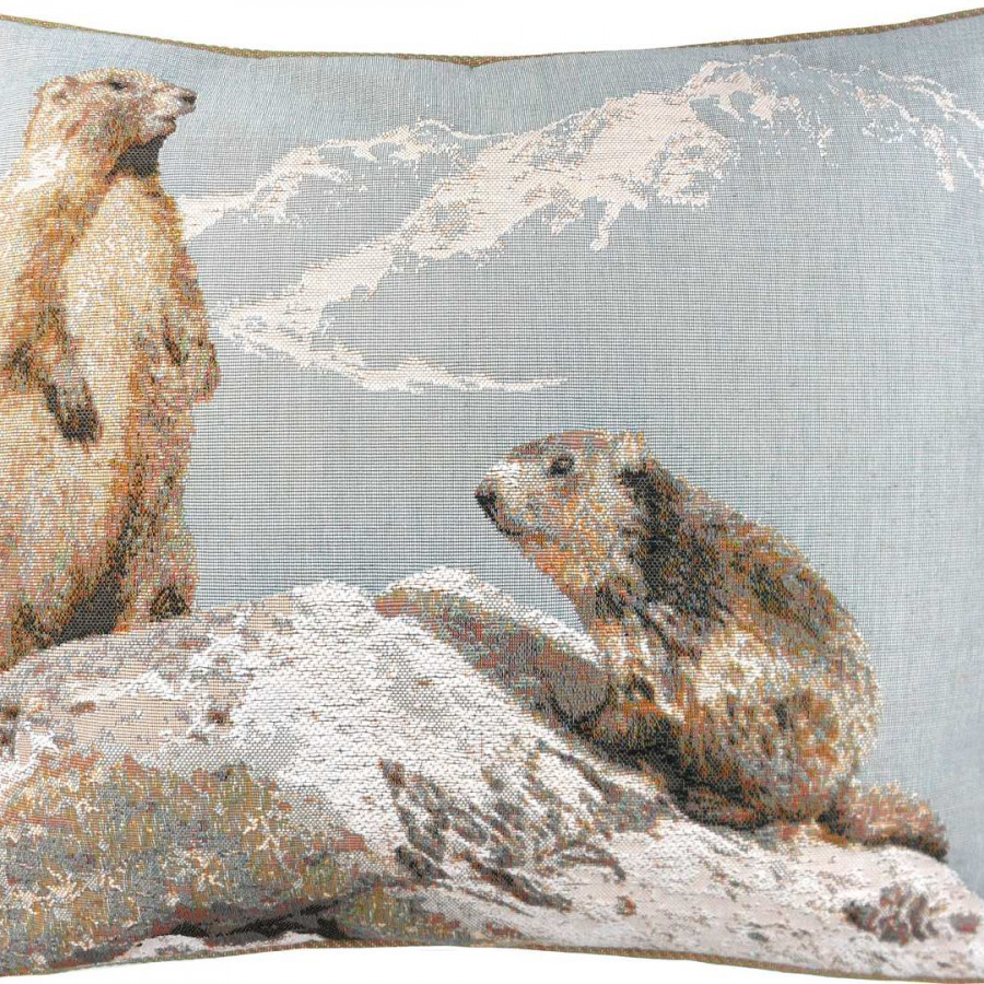 2192T : Marmots in winter, blue