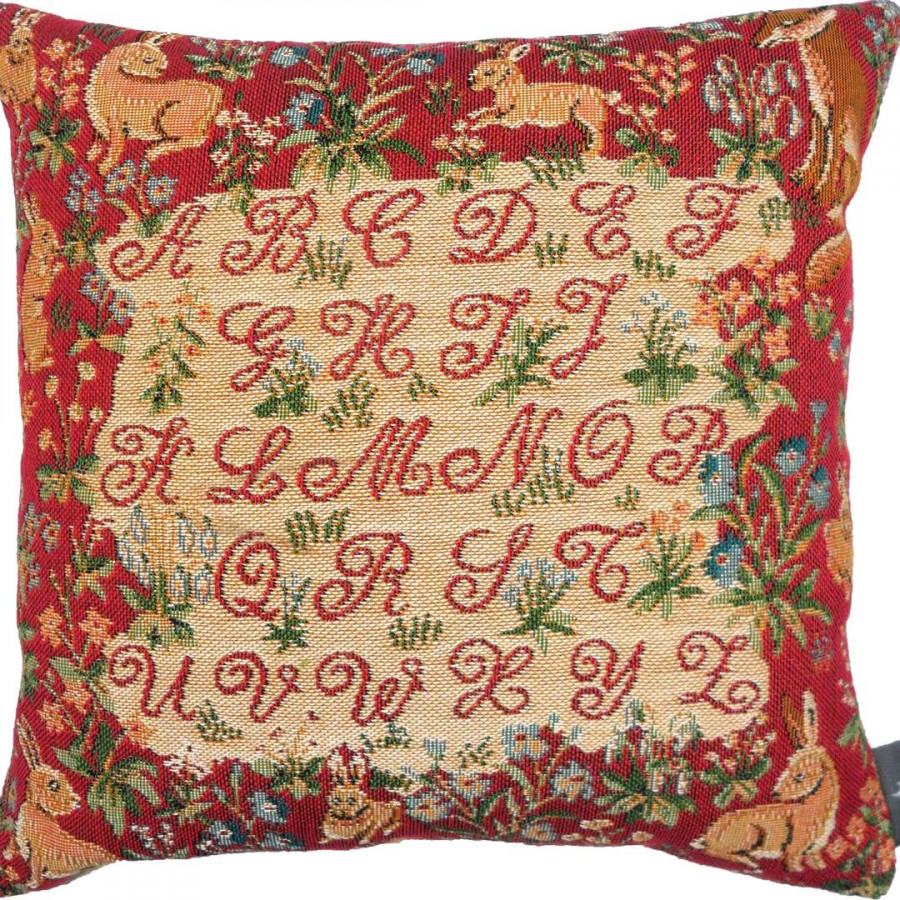 7419R : Cushion ABC pets, red background