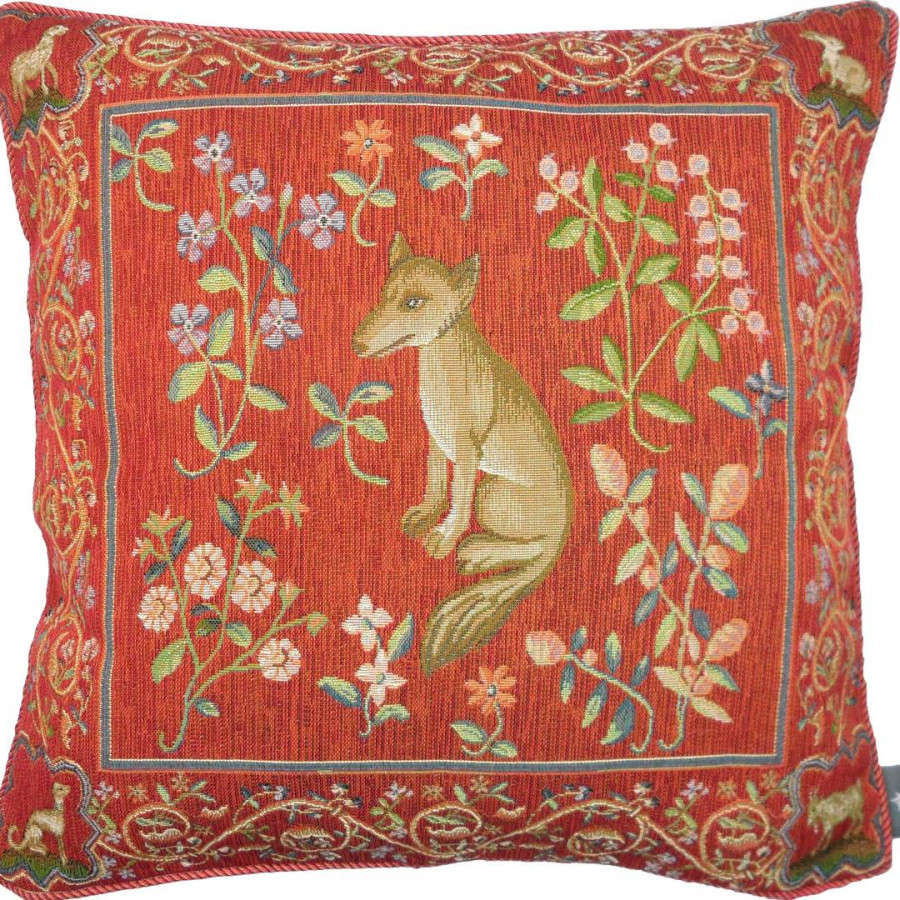 8144 : Cushion medieval fox
