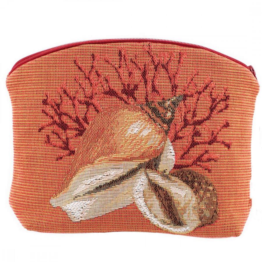 5159O : Shells, orange background