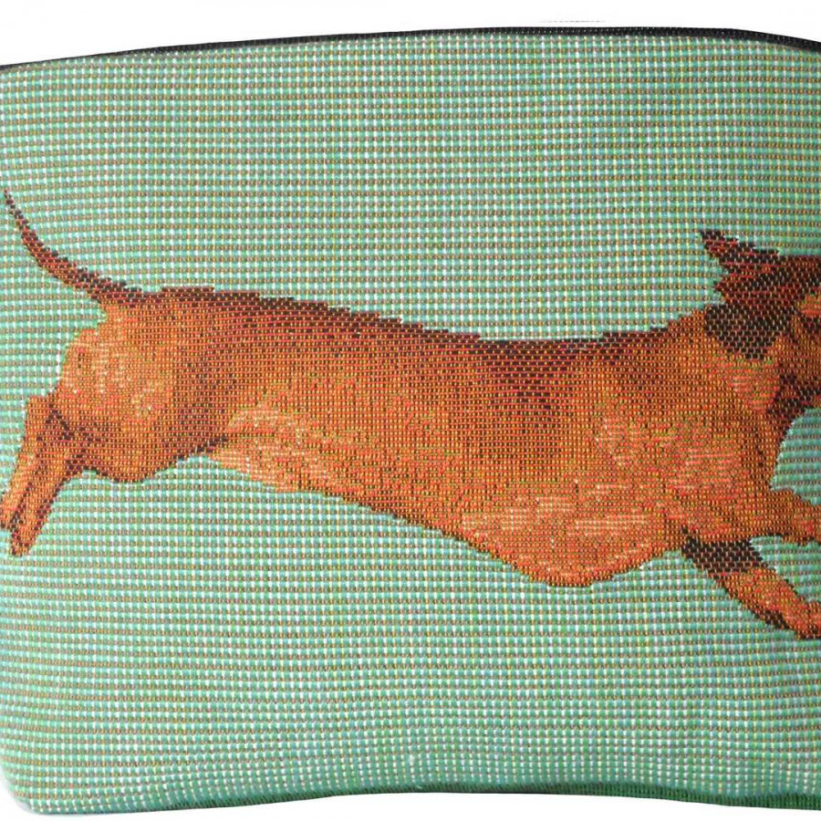 2121V : Dachshunds, green background