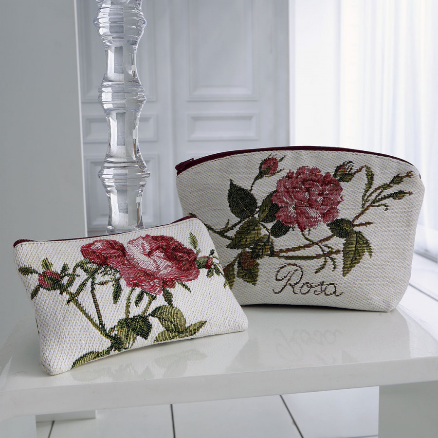 2272N : Roses from Redouté, black background