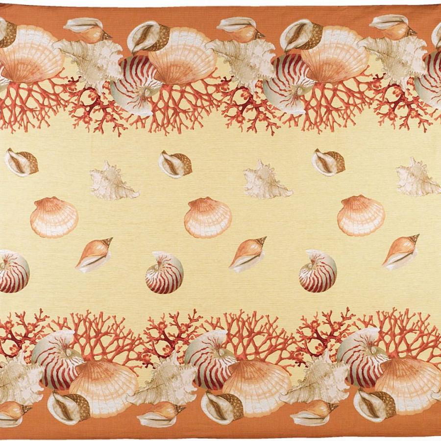 5160J : Shells, yellow background