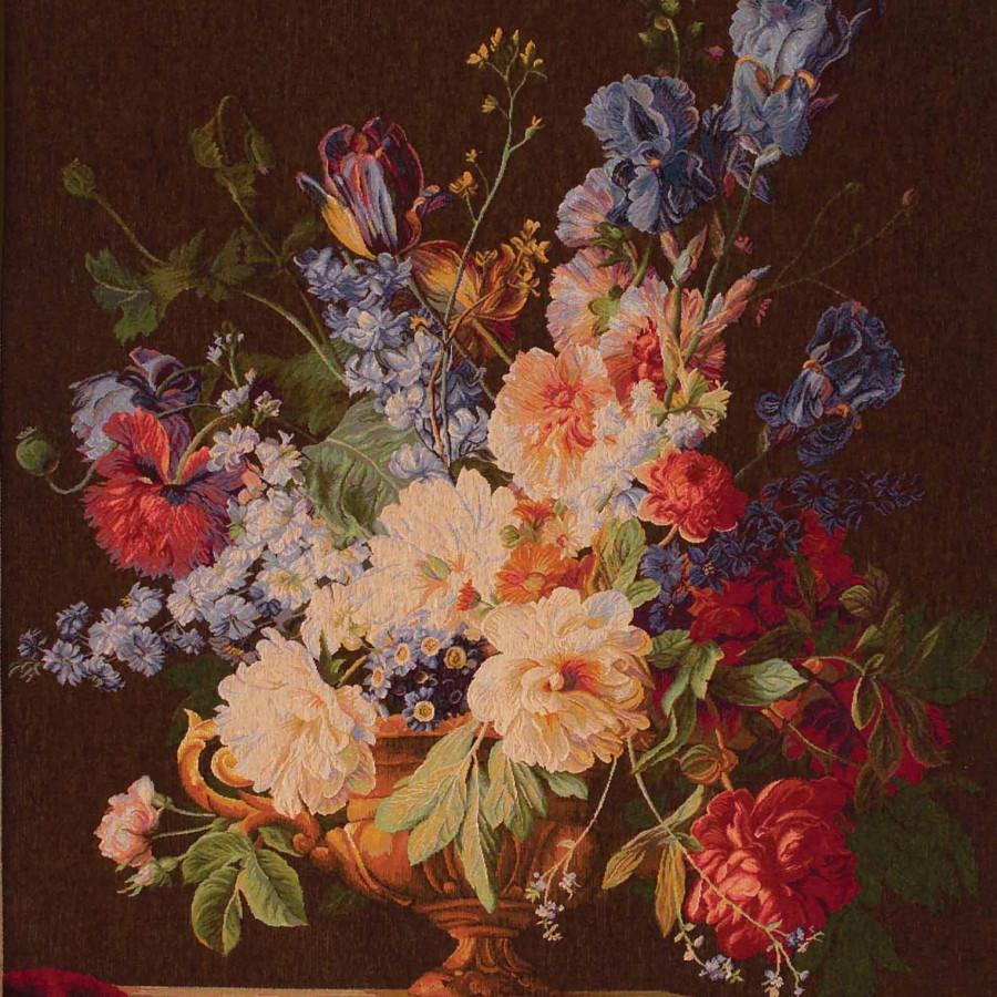9163F : Bouquet Iris, fond foncé