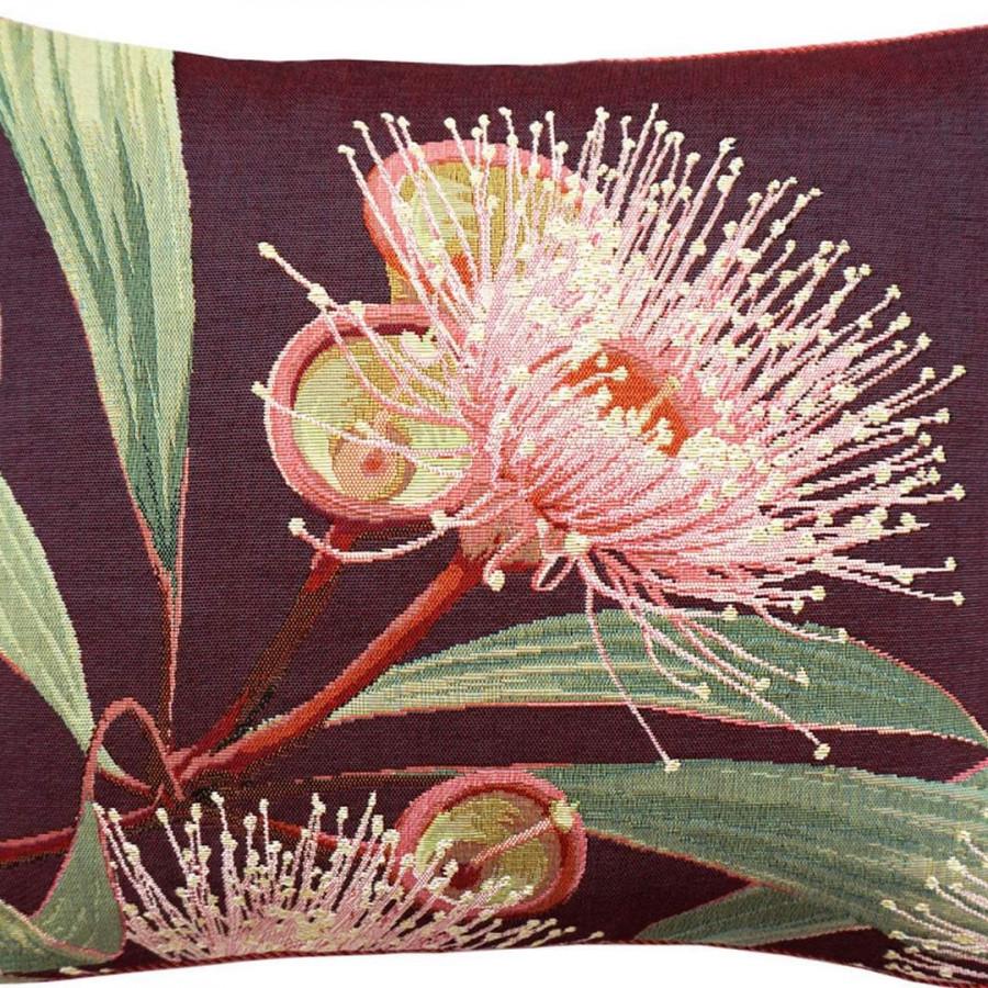 Housse de coussin grande fleur d'eucalyptus