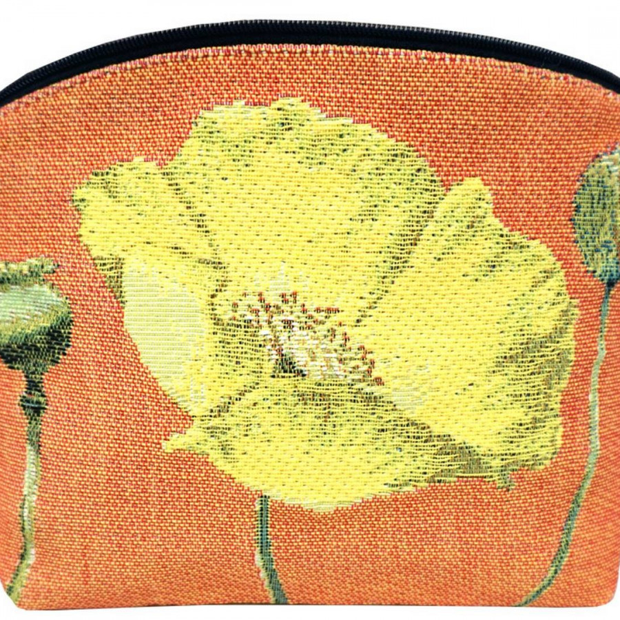 Cosmetic bag Yellow poppies
