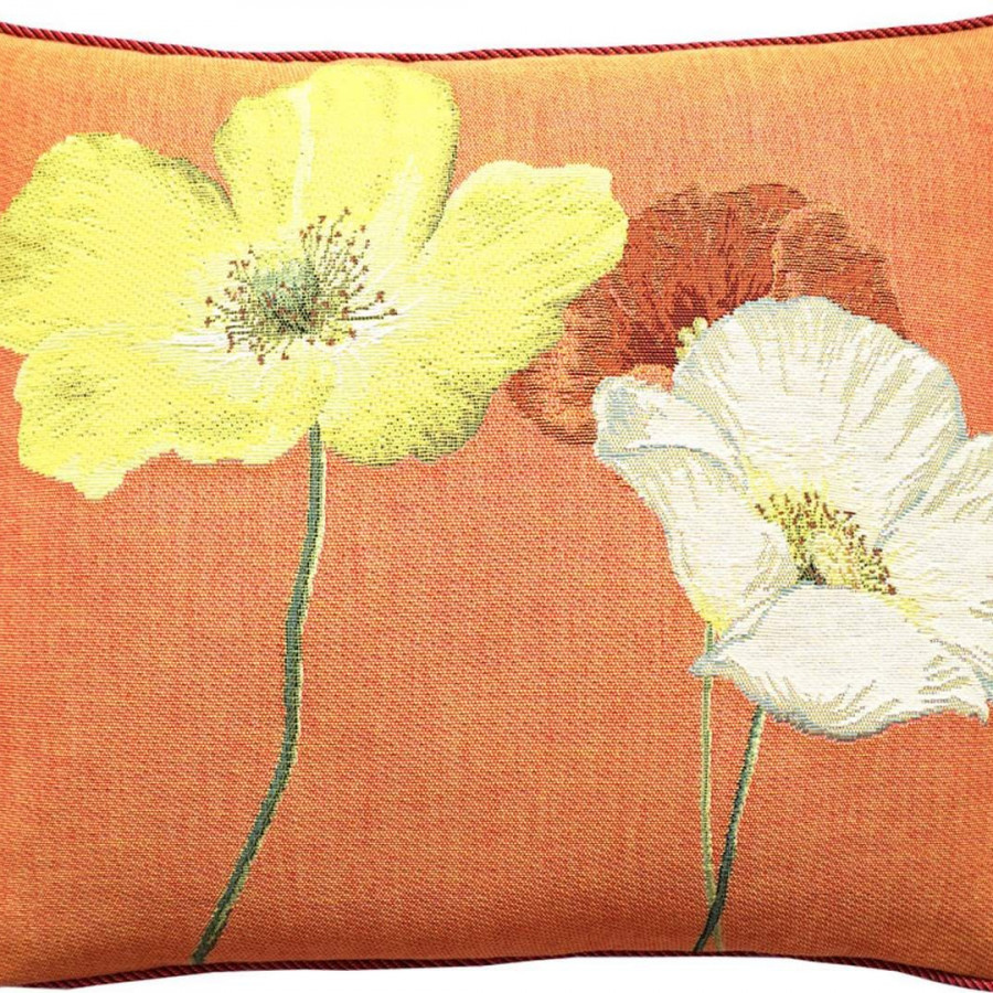 Cushion cover Three multicolor poppies