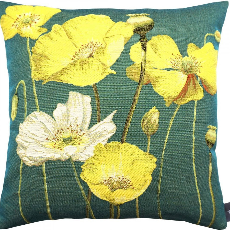 Cushion cover Multi yellow poppies