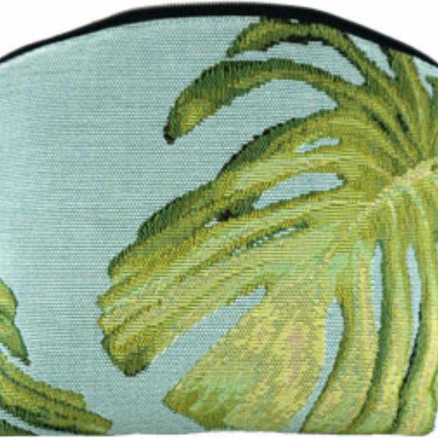5612T : Feuilles de philodendron, fond bleu